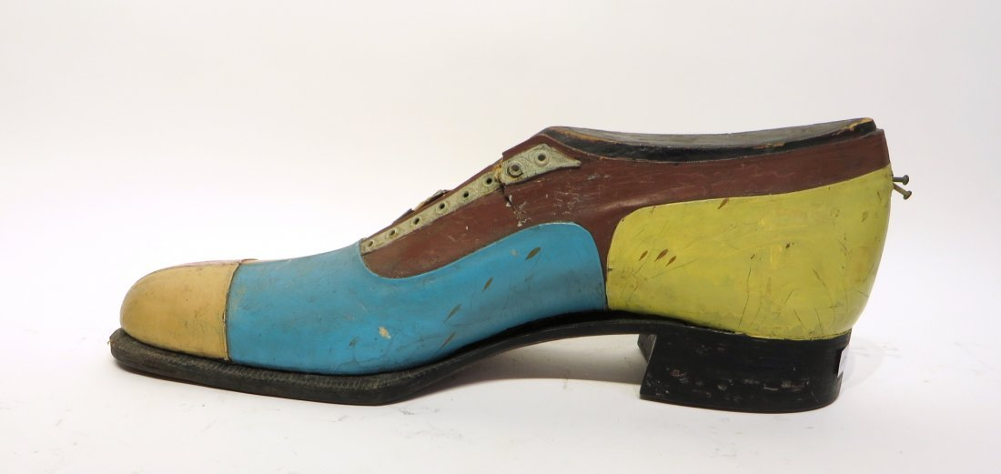 Carved & Leather Shoe For Shop Display Sign - 3