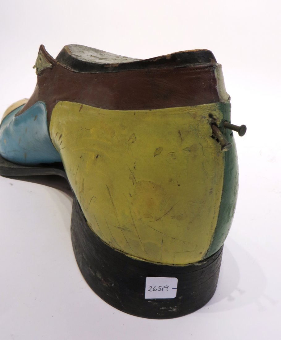 Carved & Leather Shoe For Shop Display Sign - 7