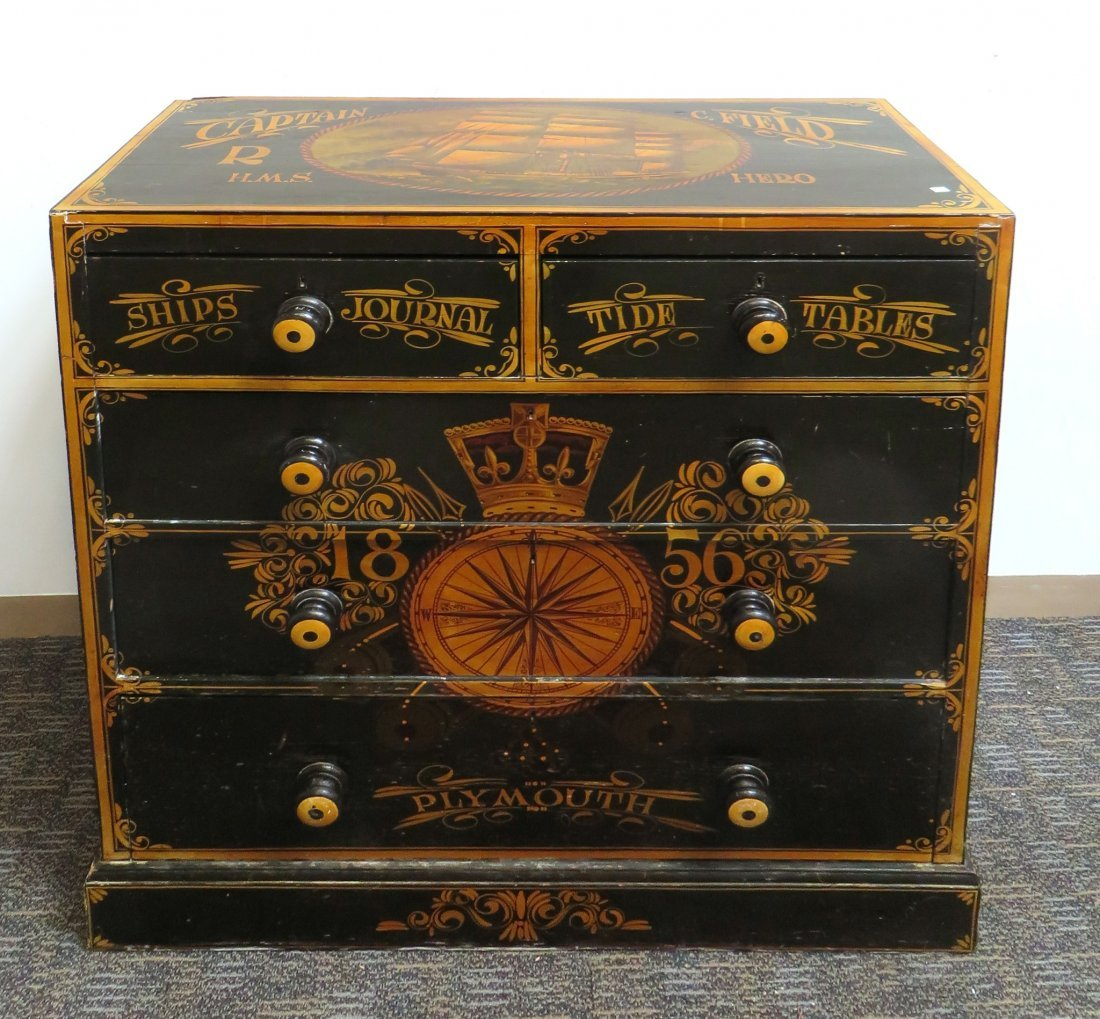 """Ship's Captain"" Chest Of Drawers"