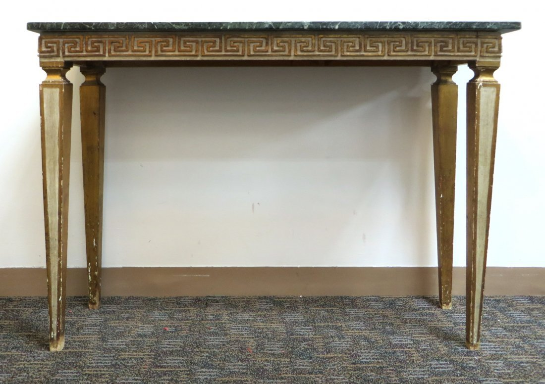 Italian Marble Top Console - 2