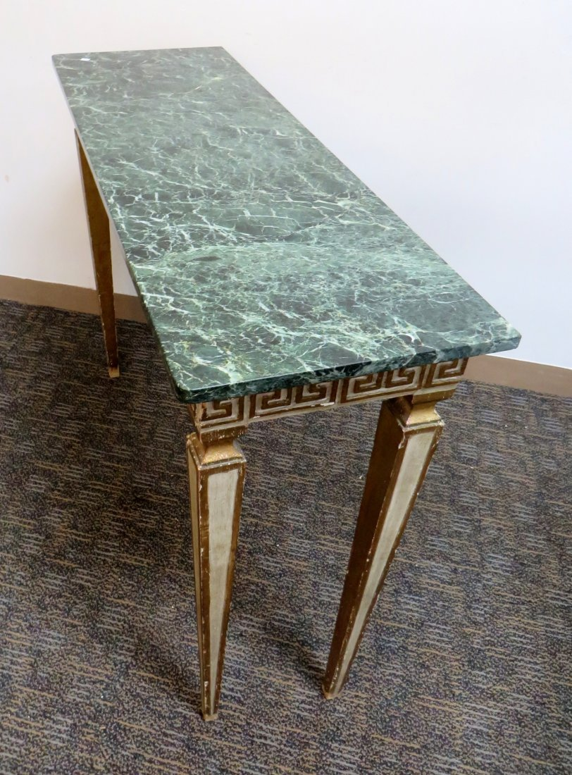 Italian Marble Top Console - 4
