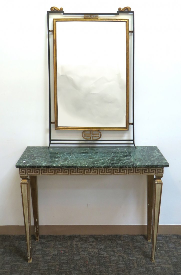 Italian Marble Top Console - 6