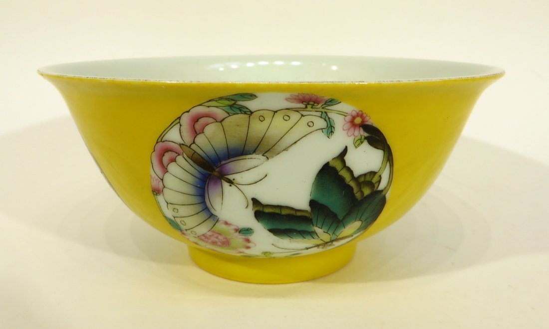 Yellow Bowl With Butterflies
