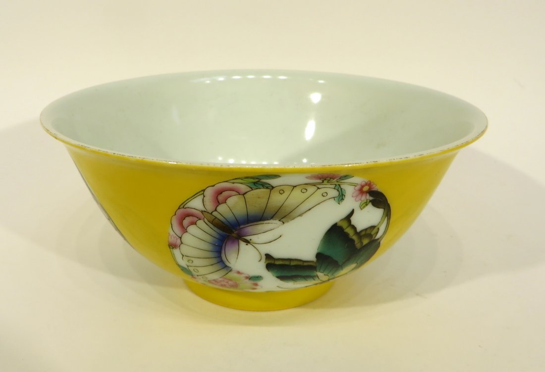 Yellow Bowl With Butterflies - 2