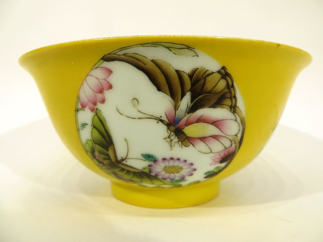 Yellow Bowl With Butterflies - 3