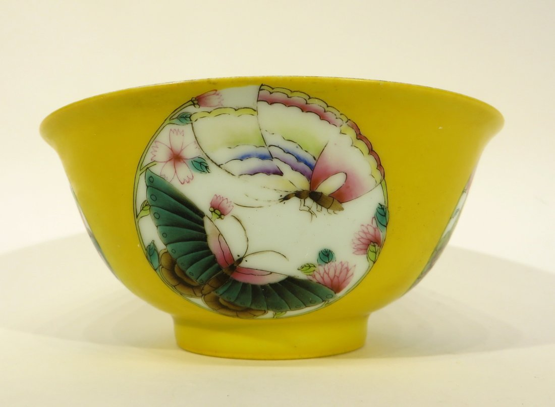 Yellow Bowl With Butterflies - 4