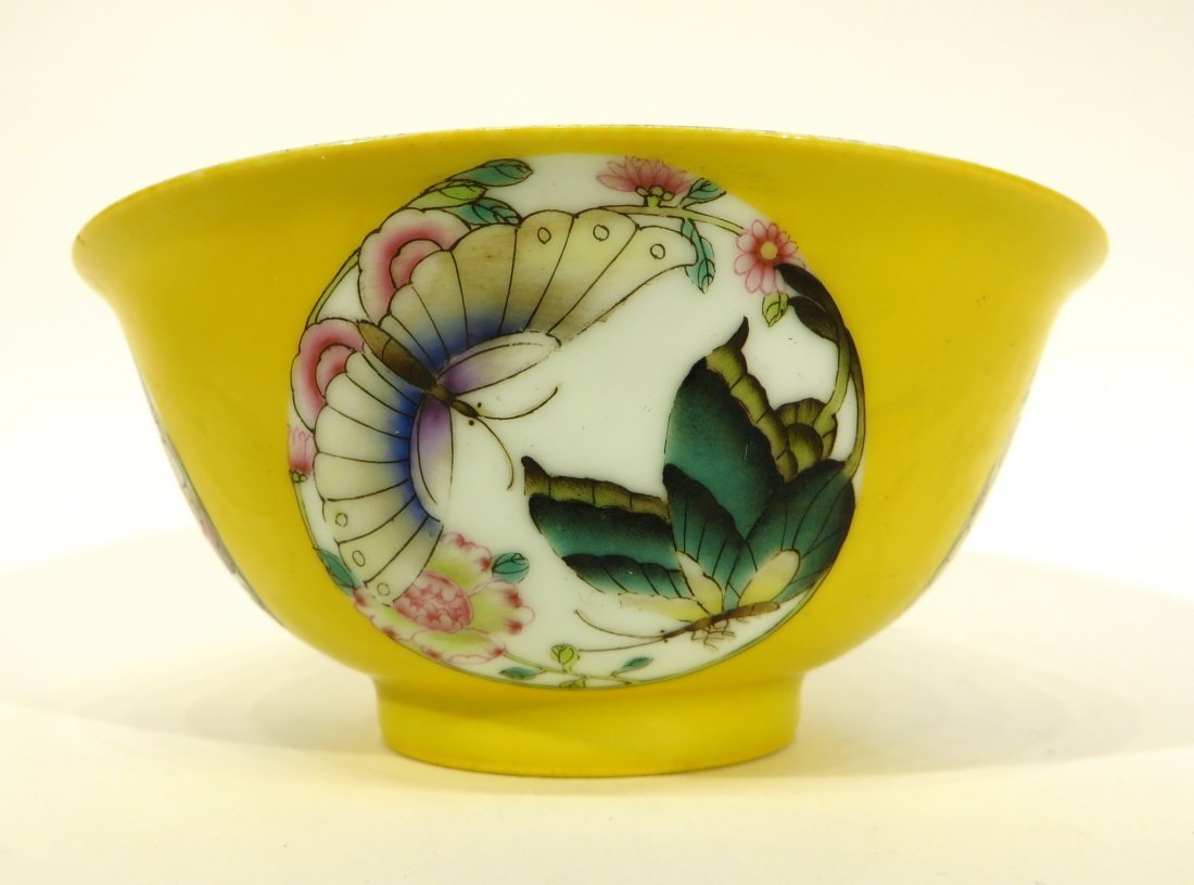 Yellow Bowl With Butterflies - 5