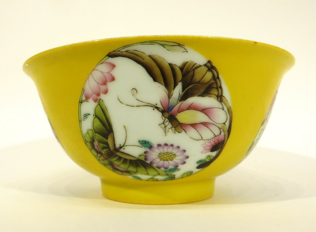 Yellow Bowl With Butterflies - 6
