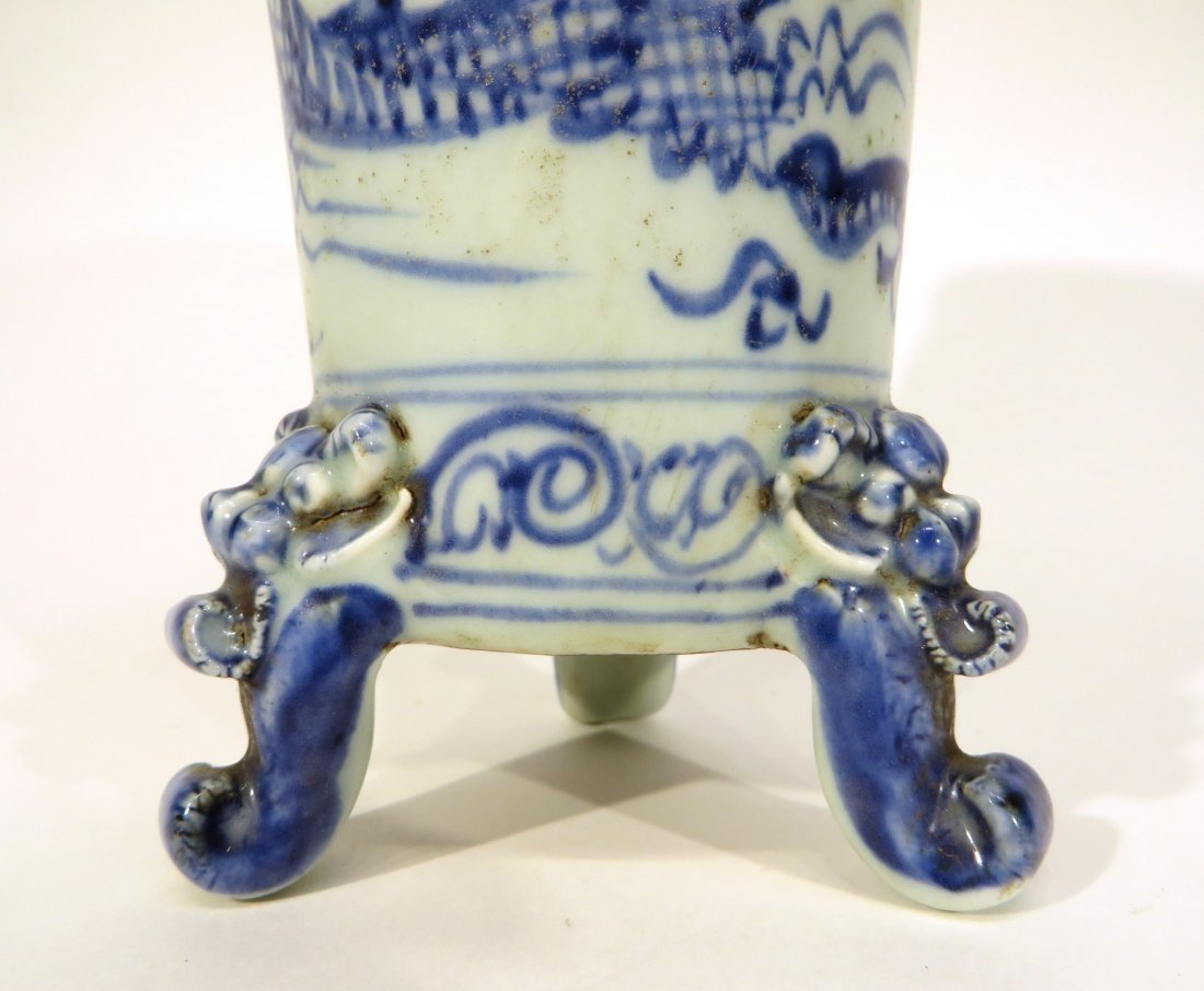Tripod Vase With Dragon Handles - 3