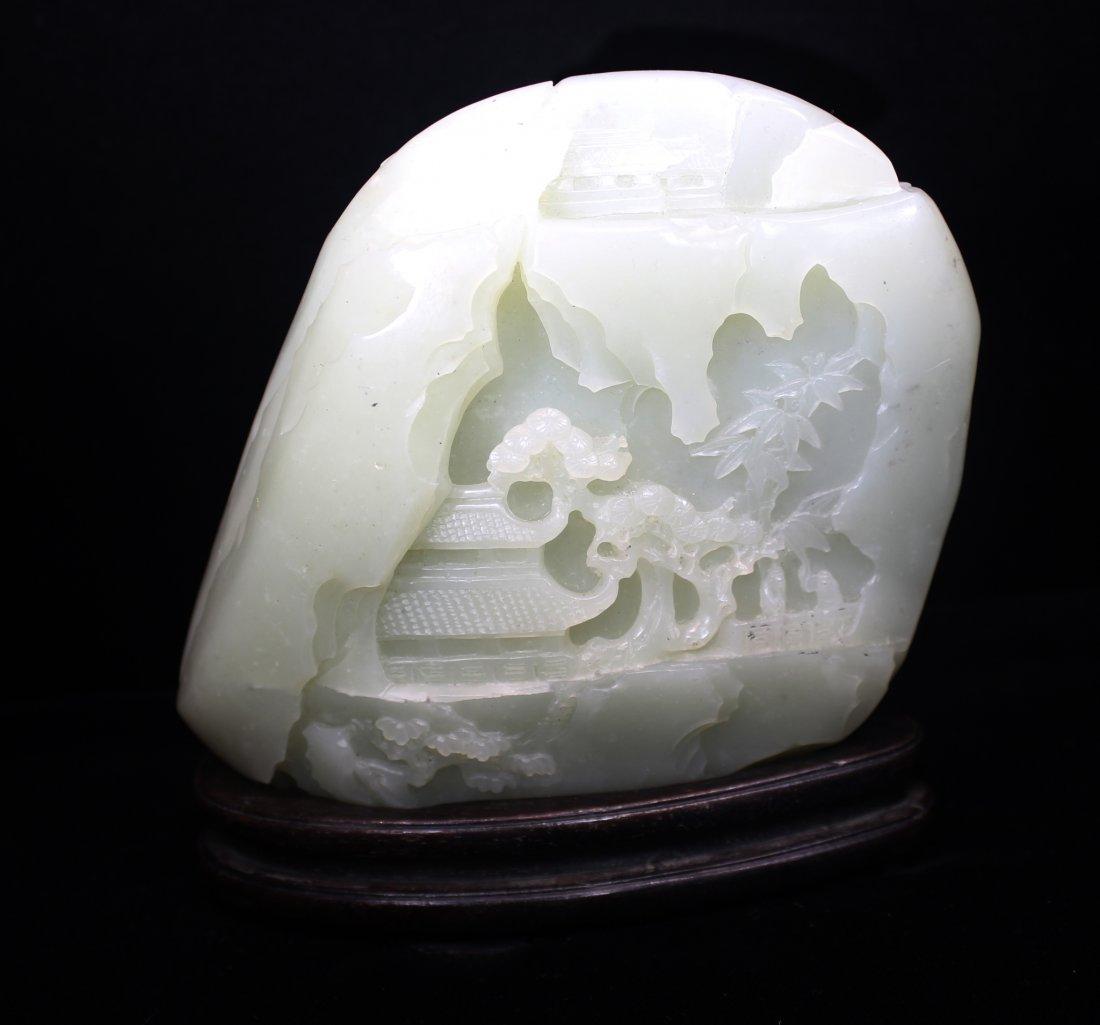 CHINESE WHITE JADE BOULDER