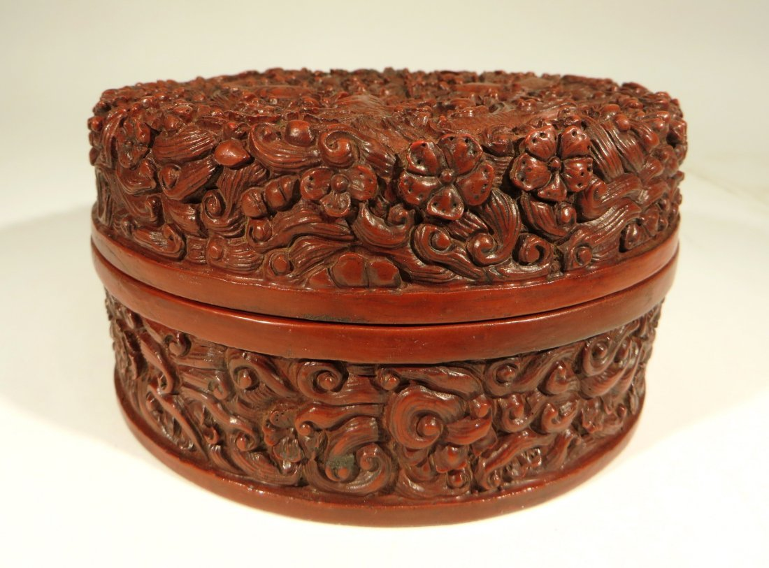 CHINESE SET OF ARCHER'S RINGS IN CINNABAR BOX - 5
