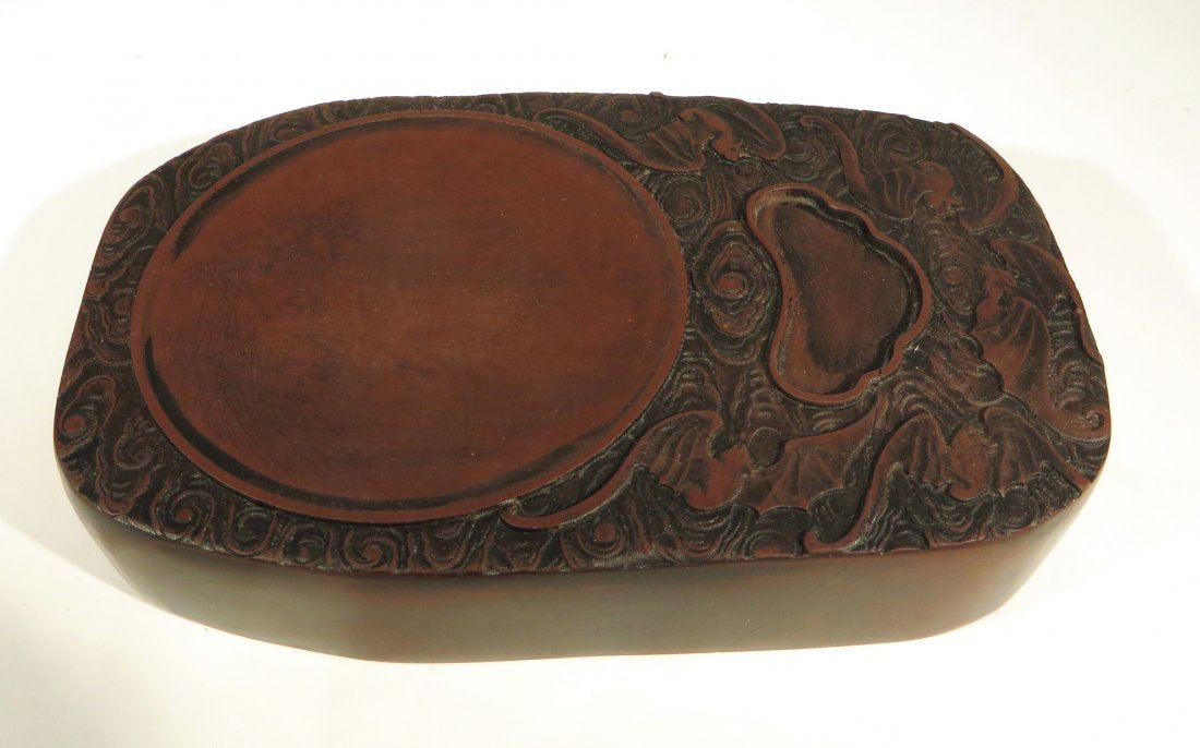 CHINESE CARVED INK STONE - 2