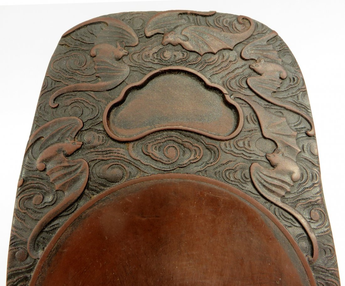 CHINESE CARVED INK STONE - 3