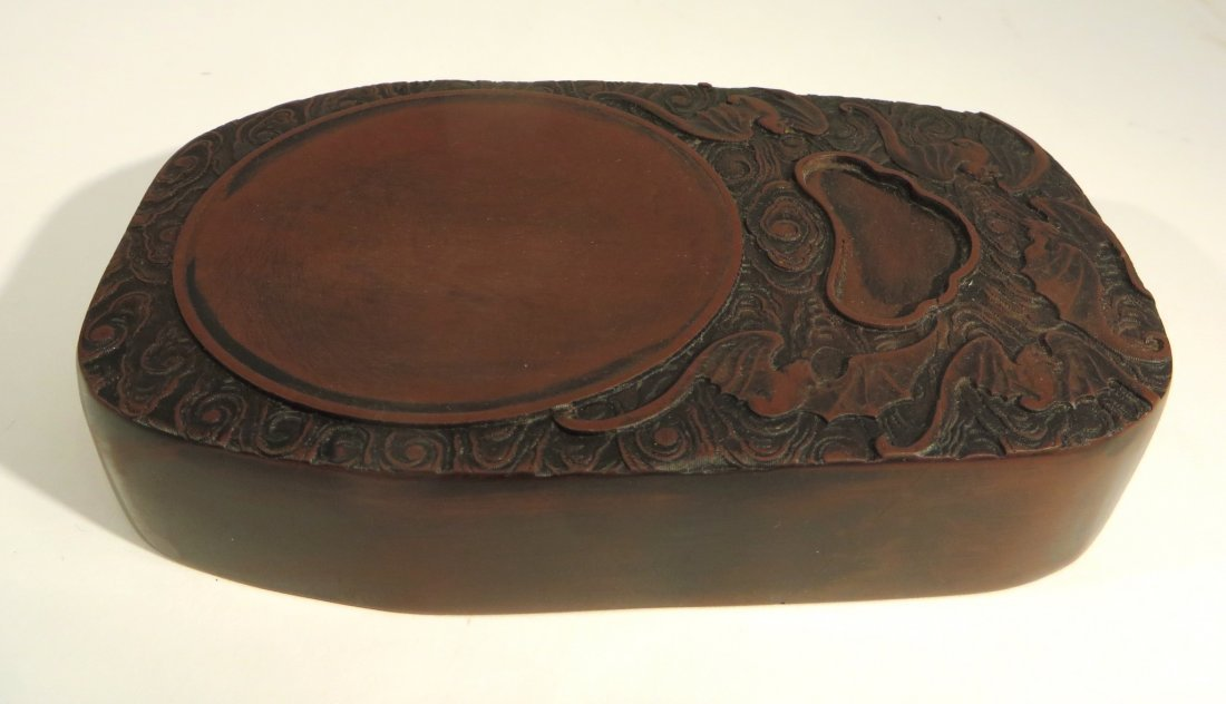 CHINESE CARVED INK STONE - 4