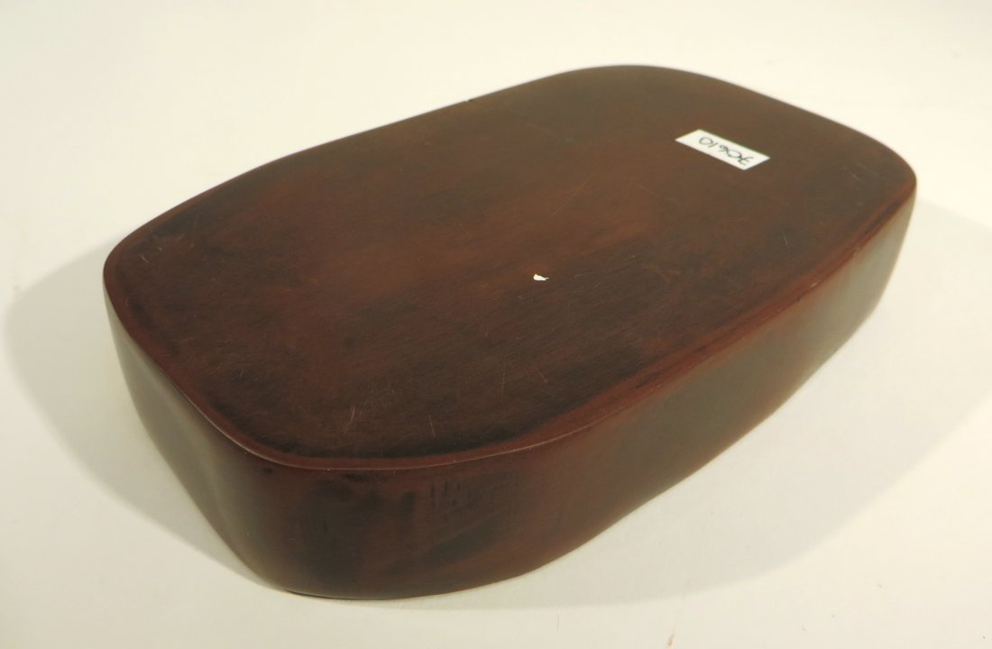 CHINESE CARVED INK STONE - 5