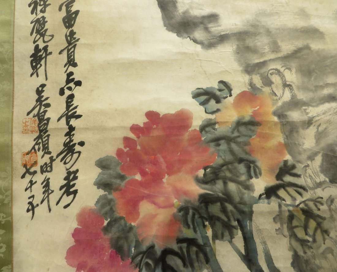 CHINESE FLOWERS BY WU CHANGSHUO (1844-1927) - 3