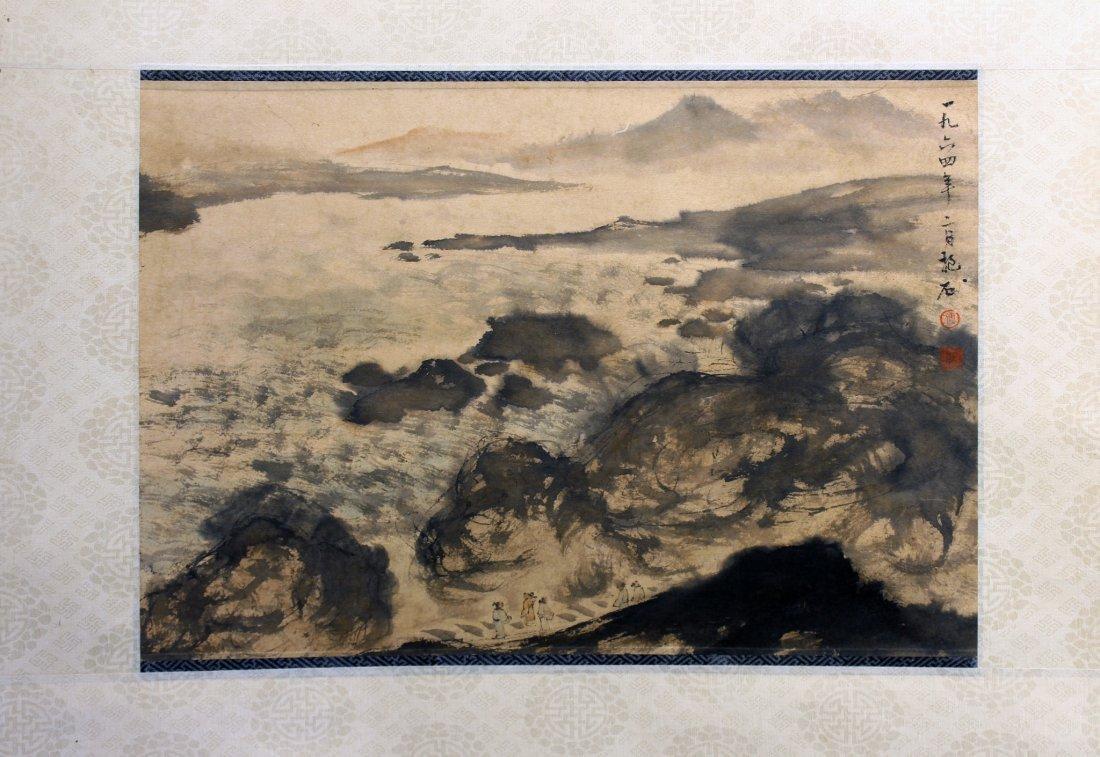 LANDSCAPE PAINTING ATTR FU BAOSHI (1904-1965)