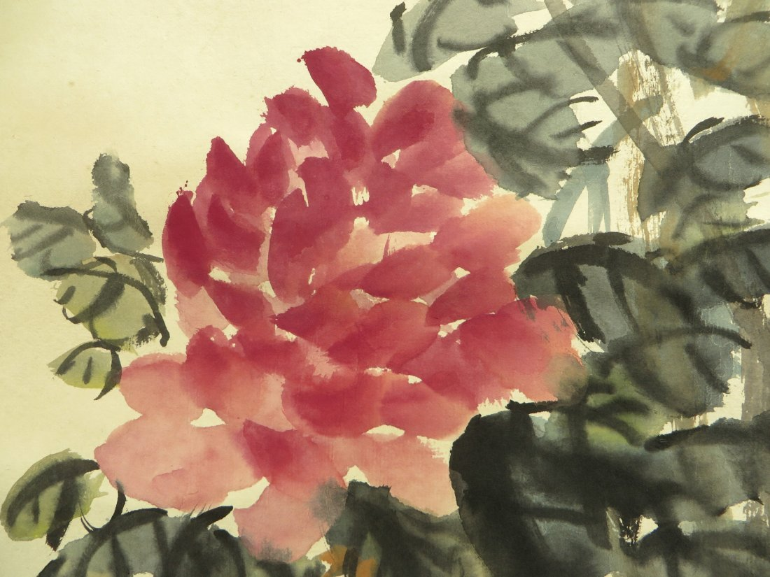 CHINESE SCROLL OF PEONIES WU CHANGSHUO - 5