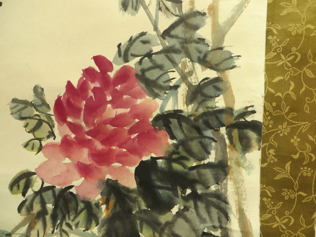 CHINESE SCROLL OF PEONIES WU CHANGSHUO - 6