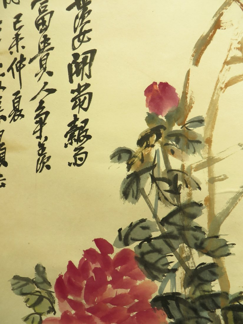 CHINESE SCROLL OF PEONIES WU CHANGSHUO - 8