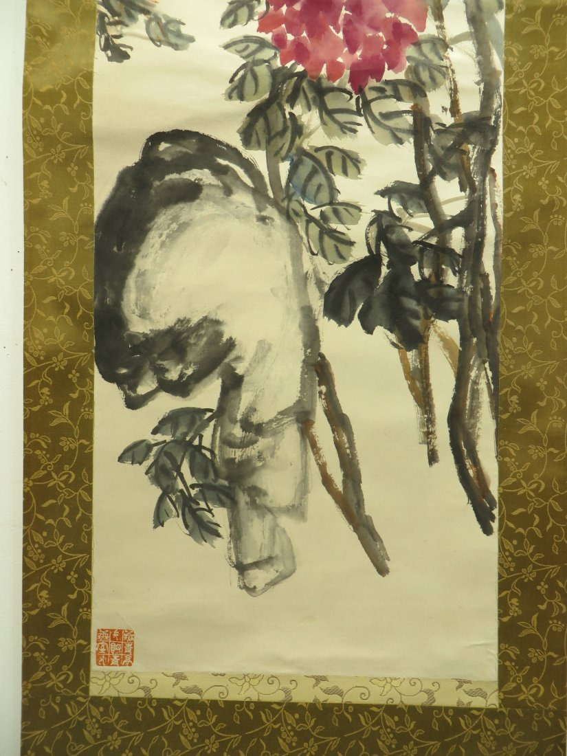CHINESE SCROLL OF PEONIES WU CHANGSHUO - 9