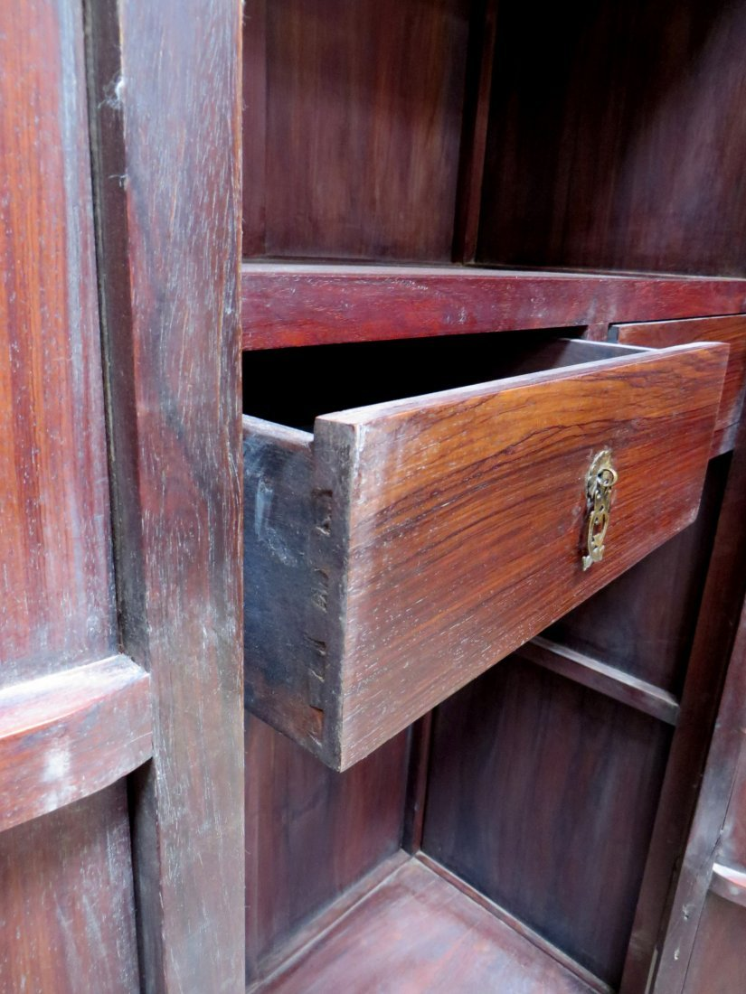 PAIR OF CHINESE HUANGHUALI NOODLE CABINETS - 7
