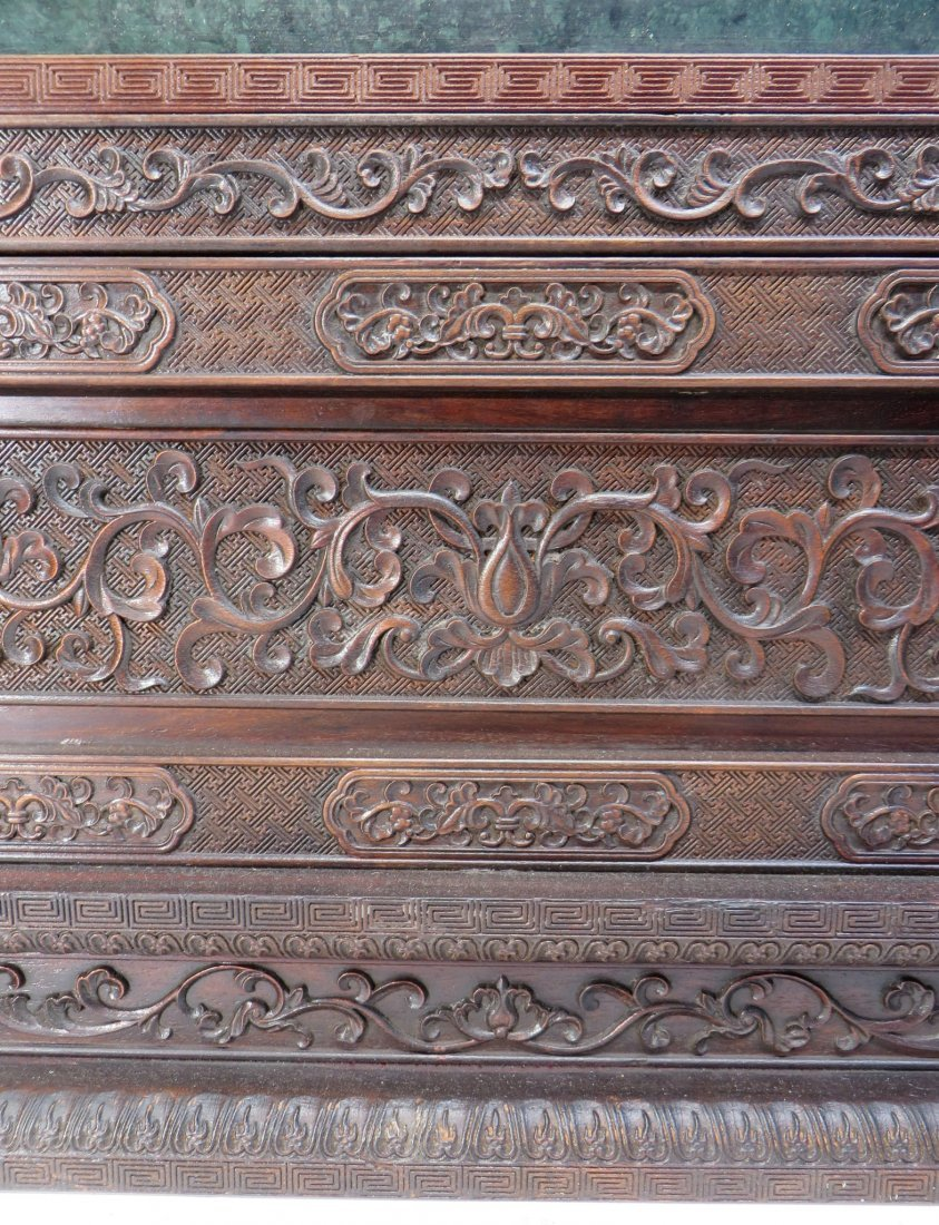 RARE CHINESE 19TH C CLOISONNE TABLE SCREEN - 7