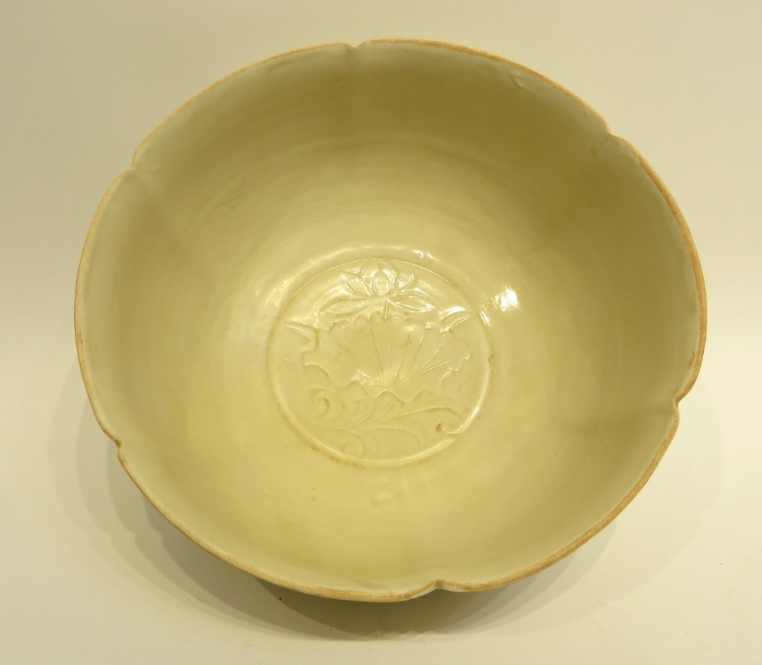 LARGE CHINESE DING WARE BOWL - 4