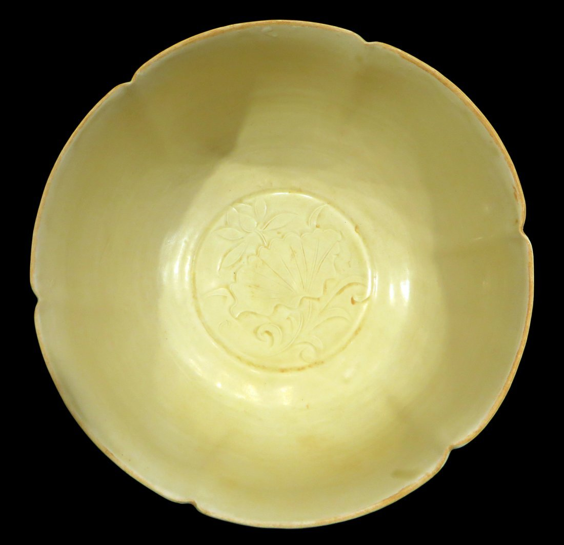 LARGE CHINESE DING WARE BOWL - 5