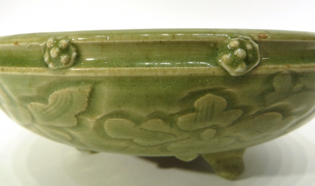 CHINESE SONG DYNASTY STYLE CELADON CENSER - 4