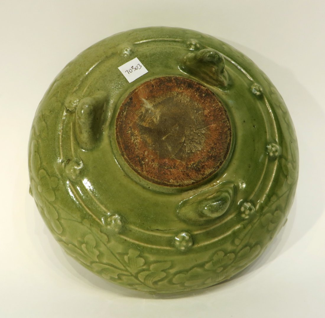 CHINESE SONG DYNASTY STYLE CELADON CENSER - 5