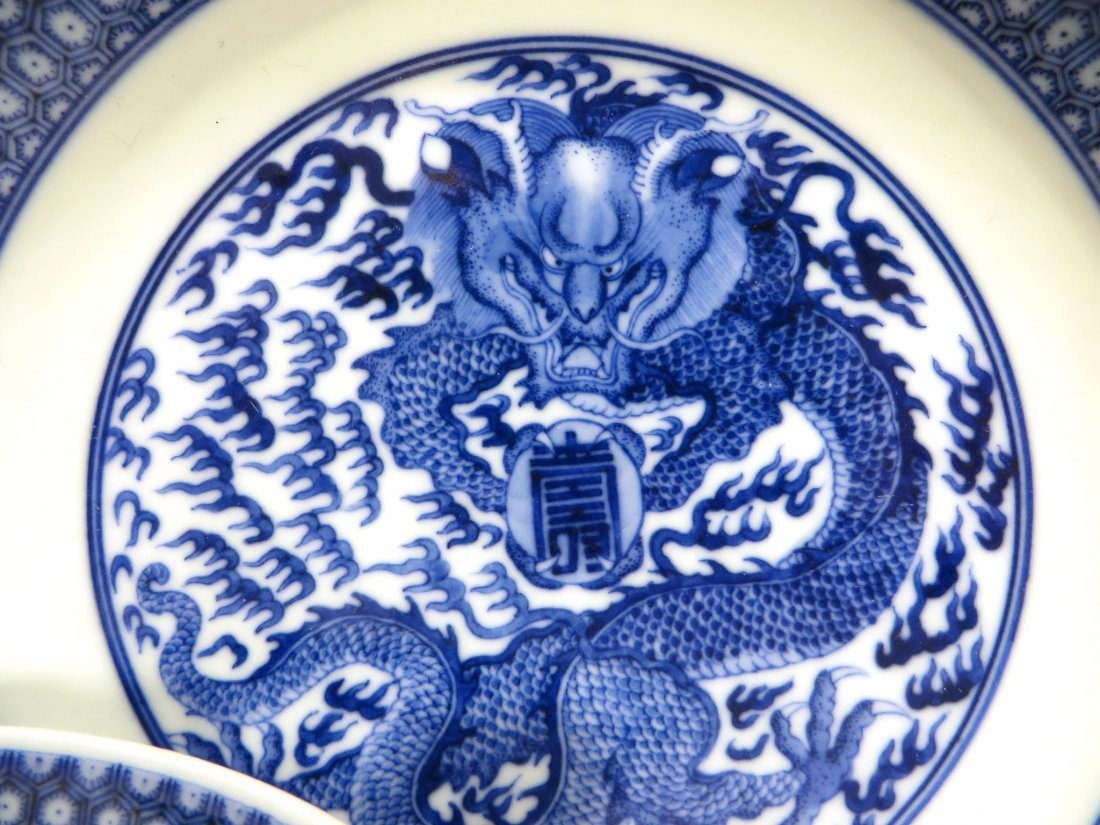 PAIR OF KANGXI BLUE AND WHITE PLATES - 2