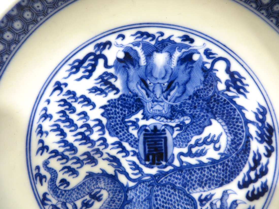PAIR OF KANGXI BLUE AND WHITE PLATES - 3