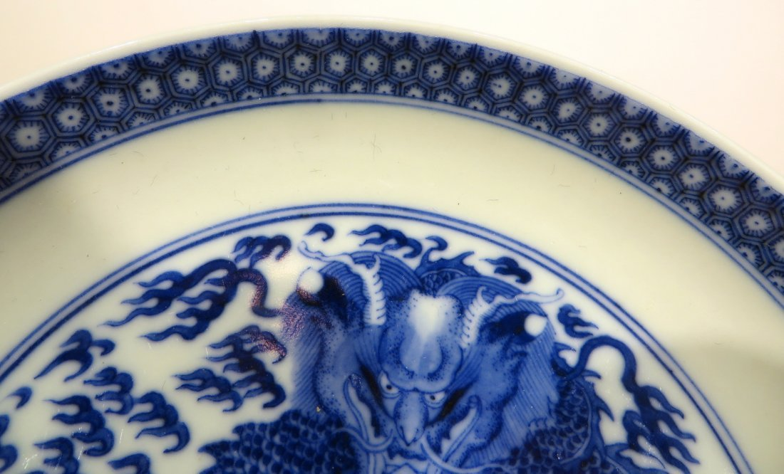 PAIR OF KANGXI BLUE AND WHITE PLATES - 4