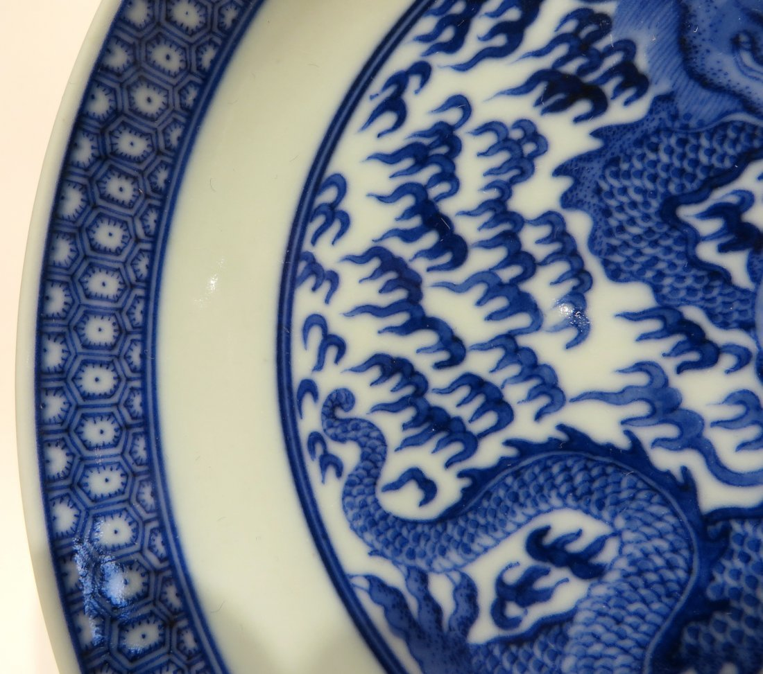 PAIR OF KANGXI BLUE AND WHITE PLATES - 5