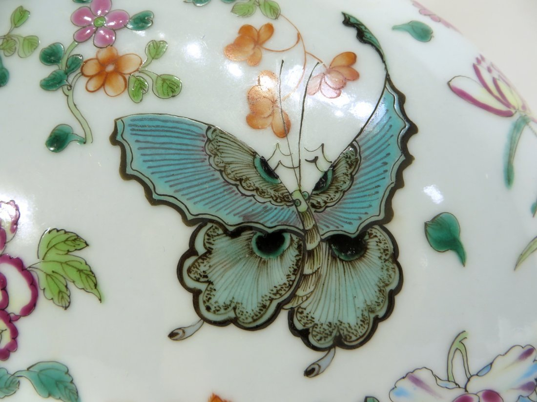 CHINESE QIAN LONG BUTTERFLY MOON FLASK - 4
