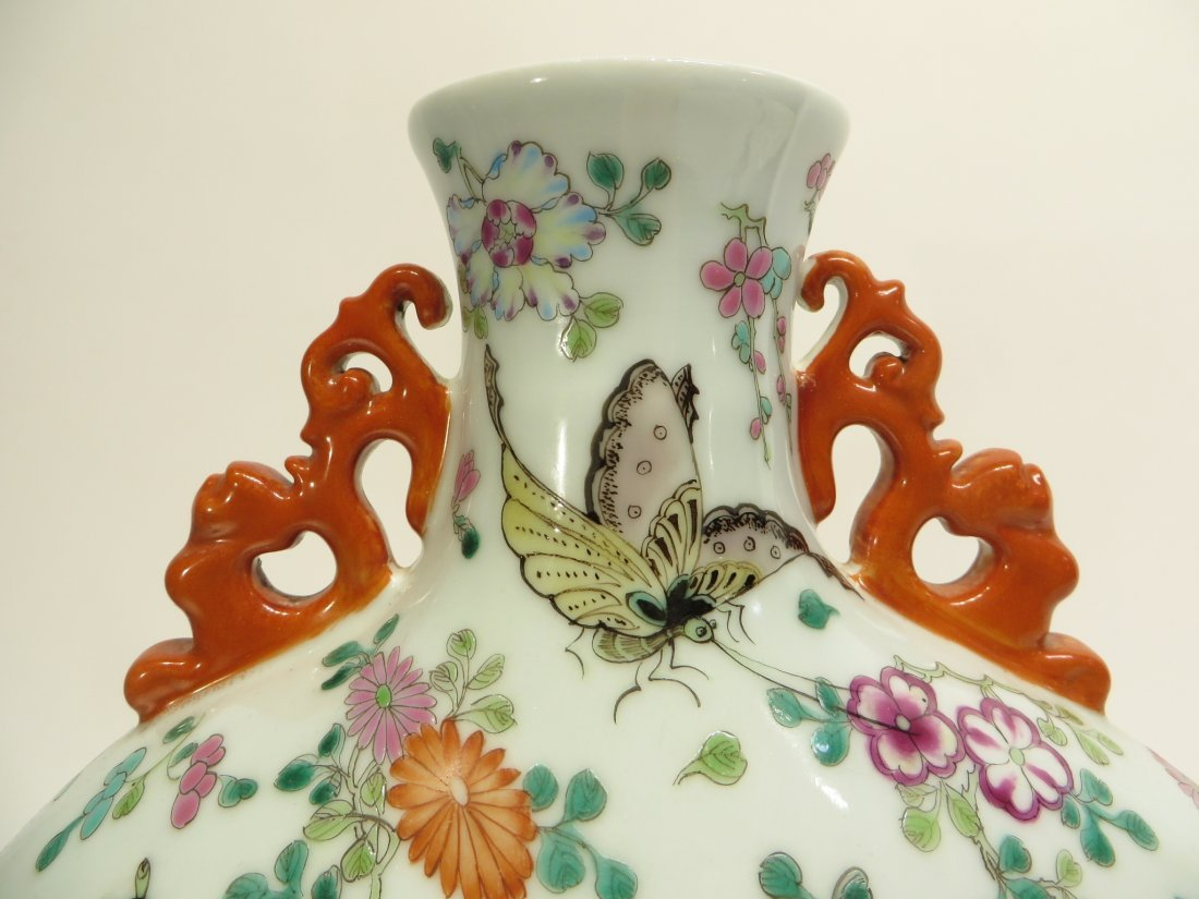 CHINESE QIAN LONG BUTTERFLY MOON FLASK - 5