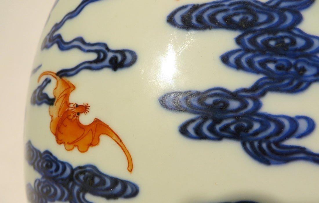 CHINESE QIAN LONG PORCELAIN DRAGON VASE - 5
