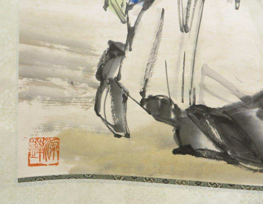 SCROLL OF DANCER SIGNED HUANG ZHOU (1925-1997) - 5