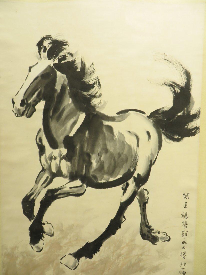 CHINESE XU BEIHONG (1895-1953) HORSE PAINTING - 2