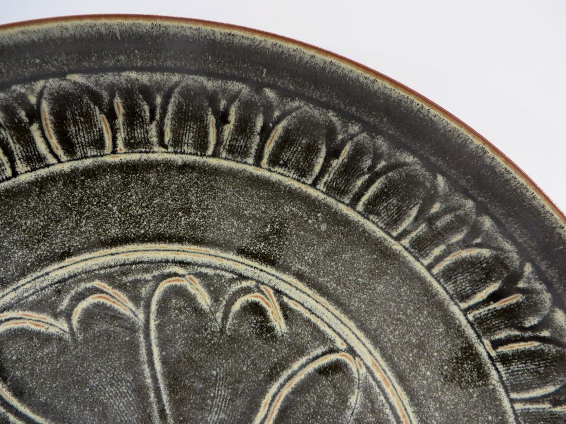 CHINESE SONG DYNASTY TYPE CELADON PLATE - 3