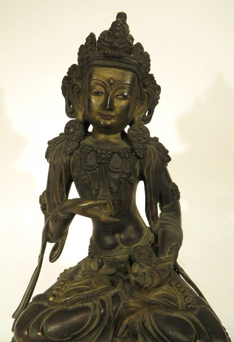 CHINESE YONG LE BRONZE BUDDHA - 2