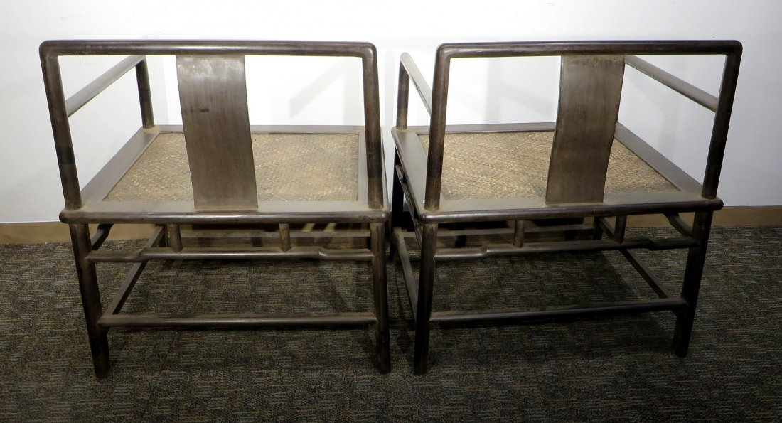 PAIR OF ZITAN BUDDHA CHAIRS - 5