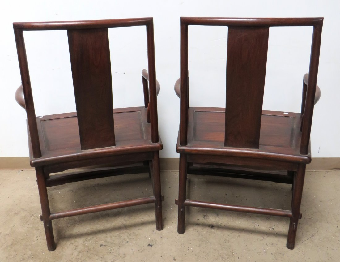 PAIR OF CHINESE HUANGHUALI CHAIRS - 10