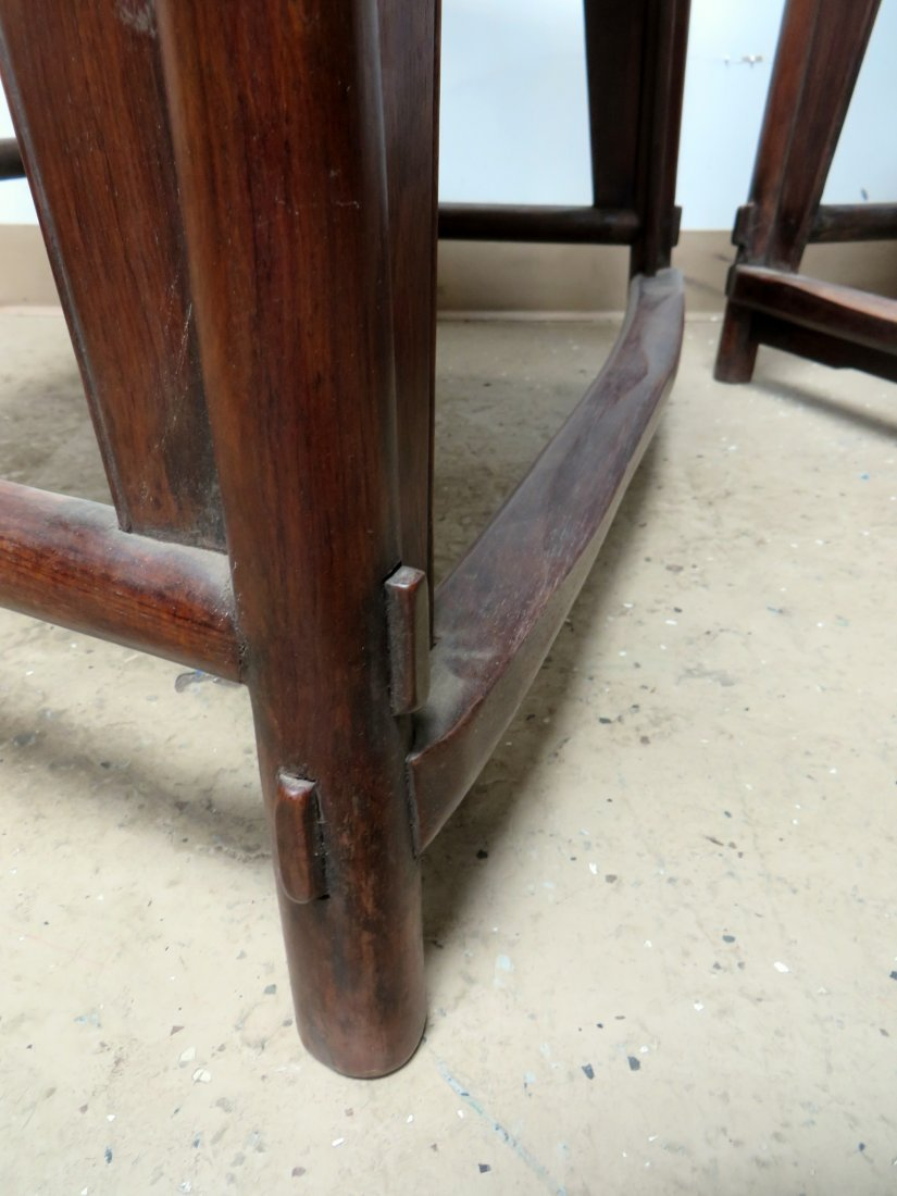 PAIR OF CHINESE HUANGHUALI CHAIRS - 6