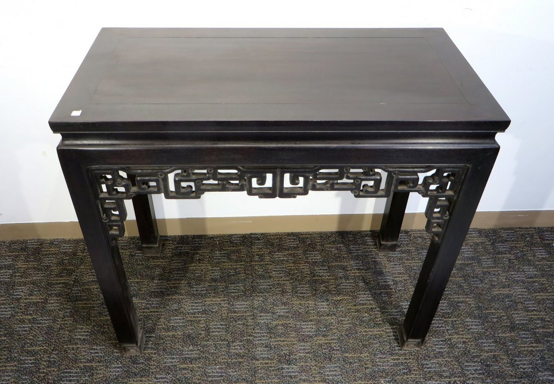 CHINESE CARVED ZITAN TABLE - 3