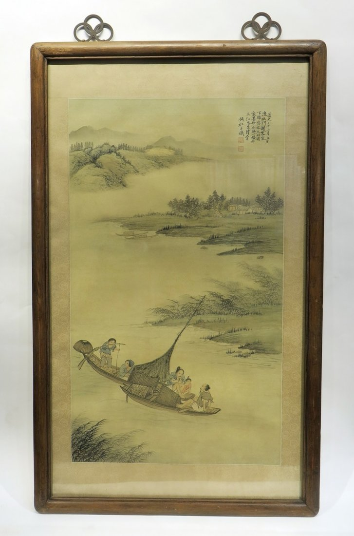 CHINESE FRAMED WATER COLOR