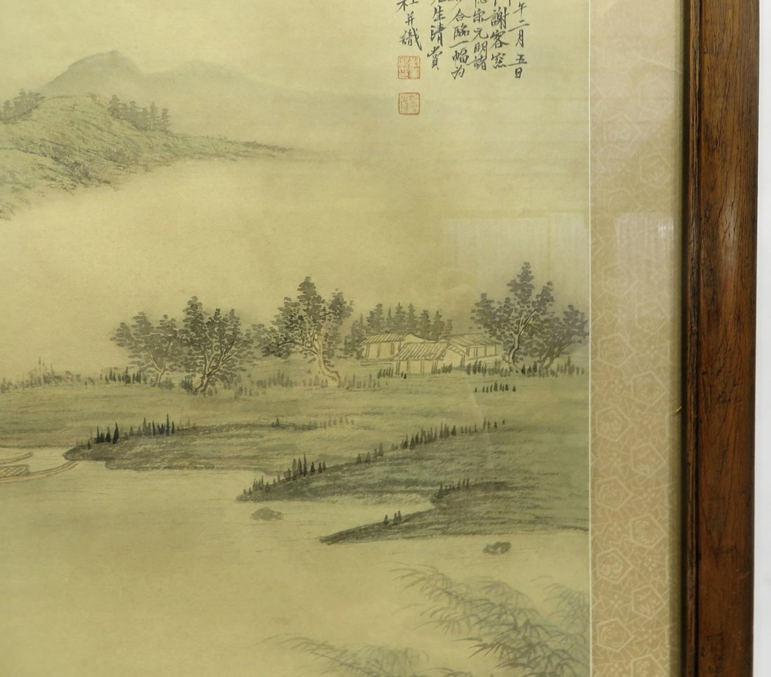 CHINESE FRAMED WATER COLOR - 4