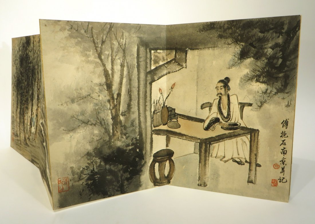 CHINESE PAINTING BOOK ATTR FU BAOSHI (1904-1965) - 6