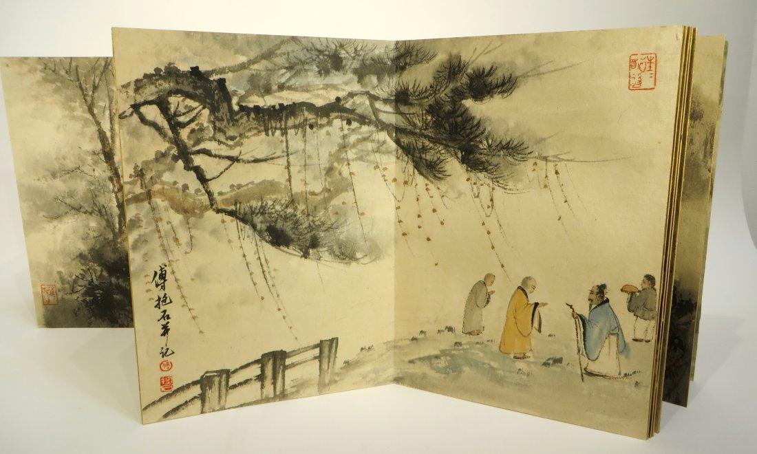 CHINESE PAINTING BOOK ATTR FU BAOSHI (1904-1965) - 7